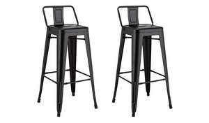 Argos Home pair of industrial metal bar stools in matte black for £50 click & collect (+£3.95 delivery) @ Argos