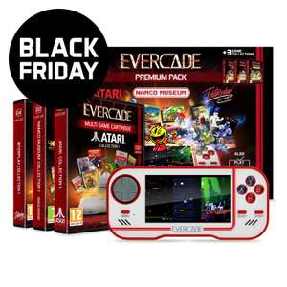 Evercade Premium pact with 3 cartridges £69.99 @ Funstock Retro