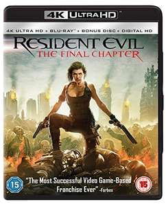 Resident Evil: The Final Chapter (4K UHD + Blu-ray) - £4.99 delivered with prime (+£4.49 non prime) @ Amazon / D & B Entertainment