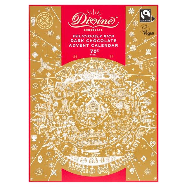 Advent Calendars - Up To Half Price At Ocado - E.G Divine Dark Chocolate Advent Calendar £5