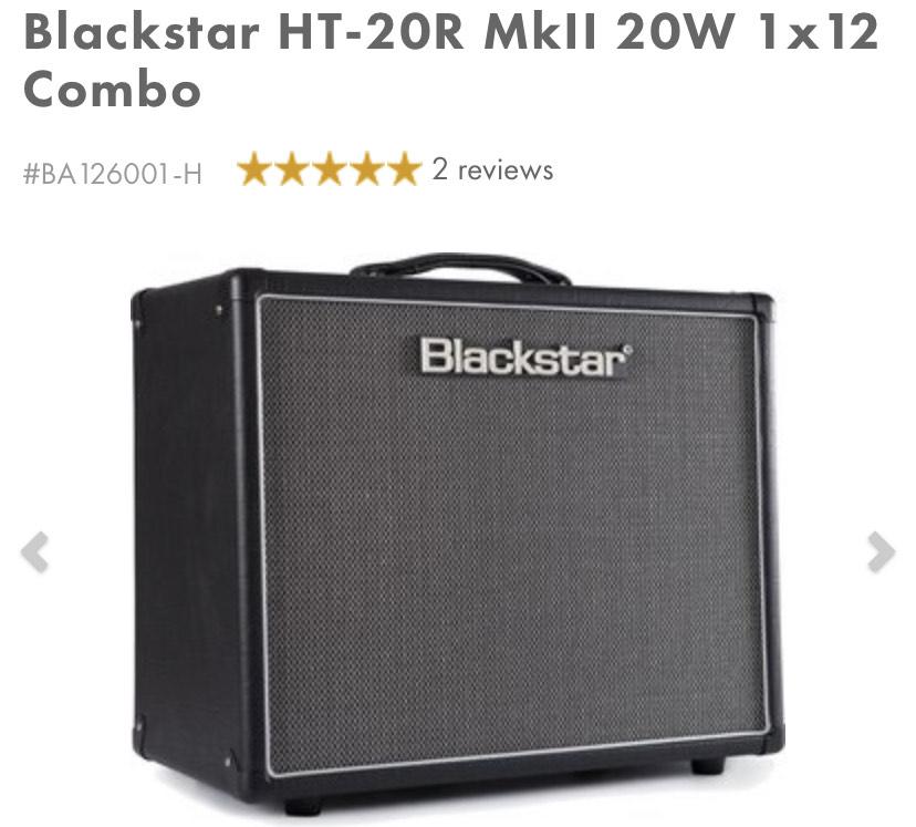 Blackstar HT 20R Mkii 1x12 Tube Combo £505 @ GAK