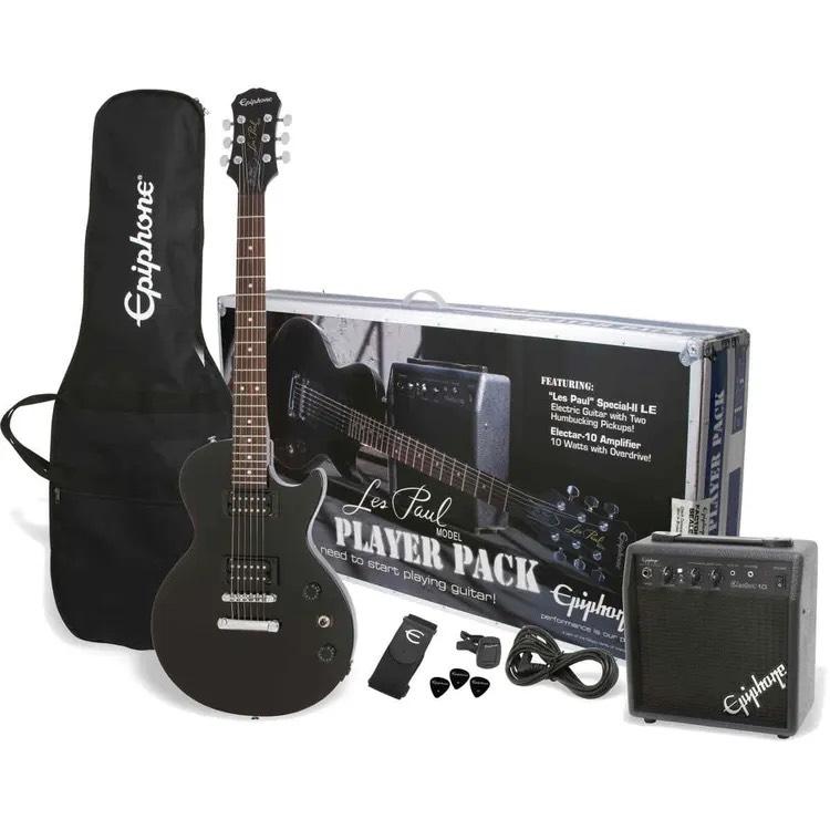 Epiphone Les Paul Guitar Player Pack in Black £199 at Andertons