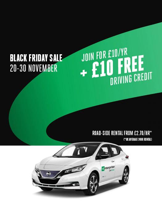 Enterprise Car Club membership £10 with £10 driving credit