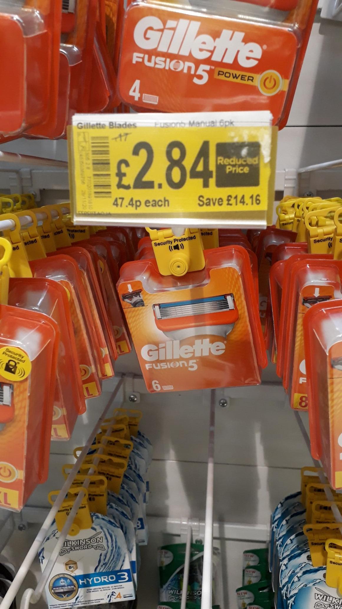 Gillette fusion 6 pack £2.84 at Asda Dewsbury