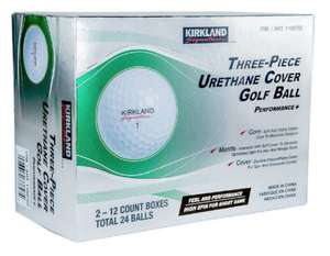 Kirkland Signature 3-Piece Urethane Cover Golf Balls - 48 balls (minimum 2 packs of 24) - £47.78 delivered (members-only price) @ Costco