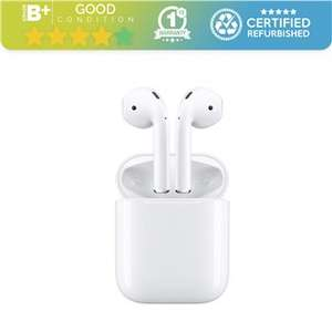 Refurbished Grade B+ Apple AirPods 2nd Generation with Charging Case (No charging cable included) £63.65 @ Student Computers