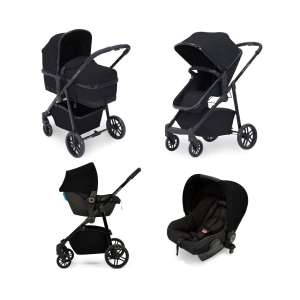 Ickle bubba Moon All-in-One Travel System with Astral Carseat-Black £199 at Kiddies Kingdom
