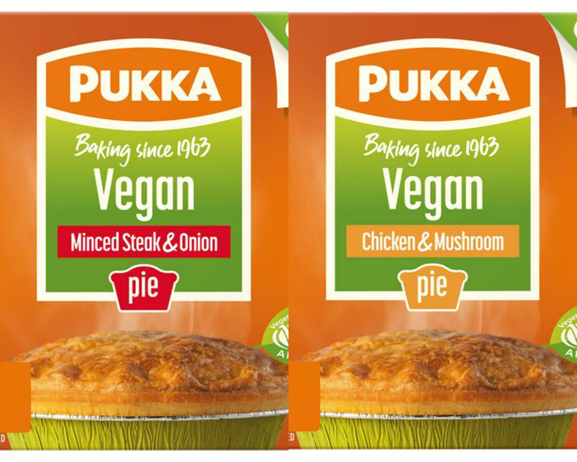 Pukka Vegan Chicken & Mushroom Pie or Pukka Vegan Minced Steak & Onion Pie £1 @ Sainsbury's