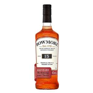 Bowmore 15 Year Old Single Malt Scotch Whisky, 70cl £40 Delivered @ Amazon