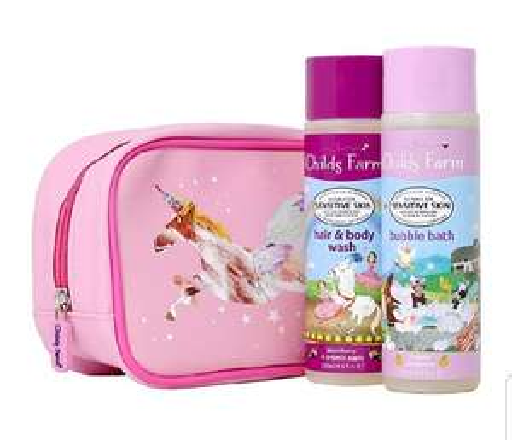 Childs Farm Unicorn Luxury Washbag Containing 250 ml Tangerine Bubble Bath & Blackberry and Apple Hair & Body Wash - £8 (+£4.49 NP) @ Amazon