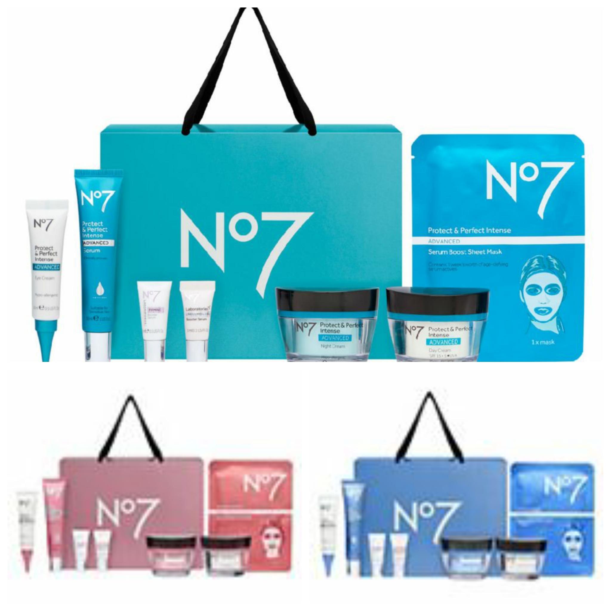 No7 Protect & Perfect Intense ADVANCED Collection/Restore & Renew/Lift & Laminate Gift Set + £10 No7 laboratories Voucher @ Boots