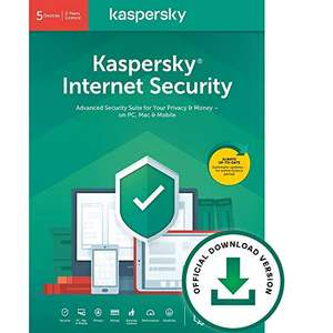 Kaspersky Internet Security 2021- Antivirus and Secure VPN Included 3 Devices 2 Years PC/Mac/Android £17.99 Online Code at Amazon