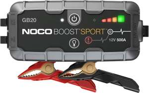 NOCO Boost Sport GB20 500 Amp 12-Volt UltraSafe Portable Lithium Car Battery Booster Jump Starter £59.25 Amazon