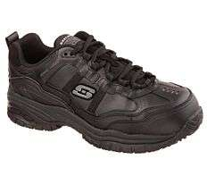 Skechers Work Relaxed Fit: Soft Stride - Grinnell Comp Toe Black Shoes £52.92 with code at Griggs