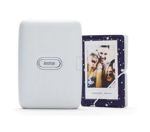 Fujifilm Instax Mini Link Wireless Photo Printer including LED Lights & Album - Ash White £79.99 Maplin