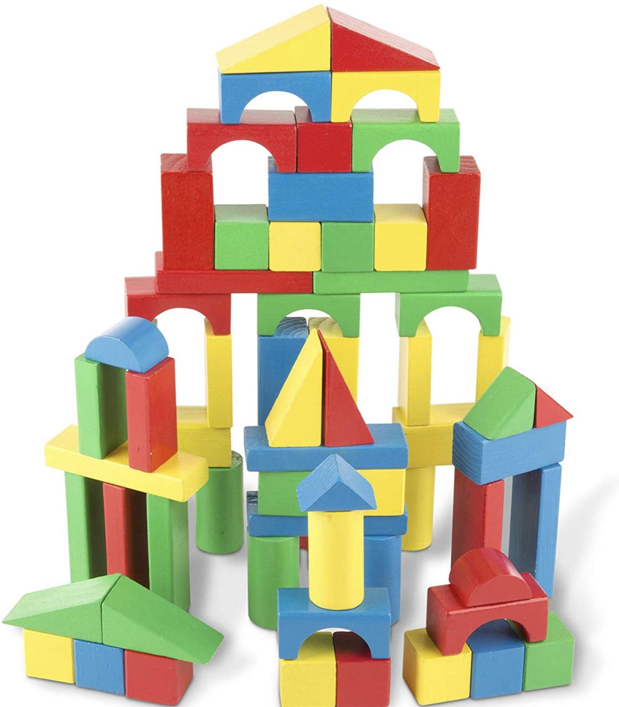 Melissa & Doug 100 wooden blocks - £9.74 (Prime) or +£4.49 Non Prime @ Amazon