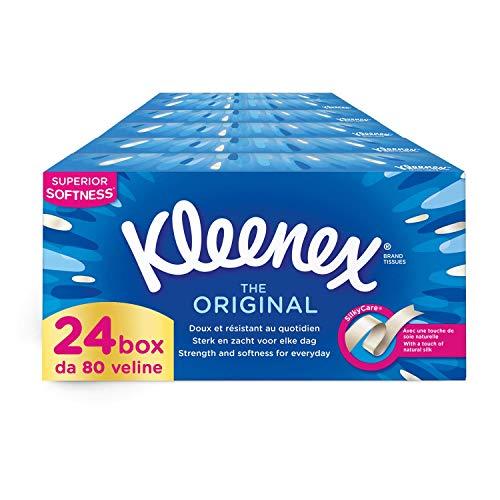 Kleenex Original Box Tissues, 24 boxes of 80 Tissues £10.96 (+£4.49 Non Prime) @ Amazon
