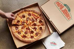 50% off papa johns pizza when you spend over £20