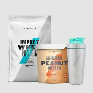MyProtein Bundles - 5KG Impact Whey + 1KG Peanut Butter & Metal Shaker - £38.53 / 2.5KG Whey Bundle £24.20 Delivered With Code @ MyProtein