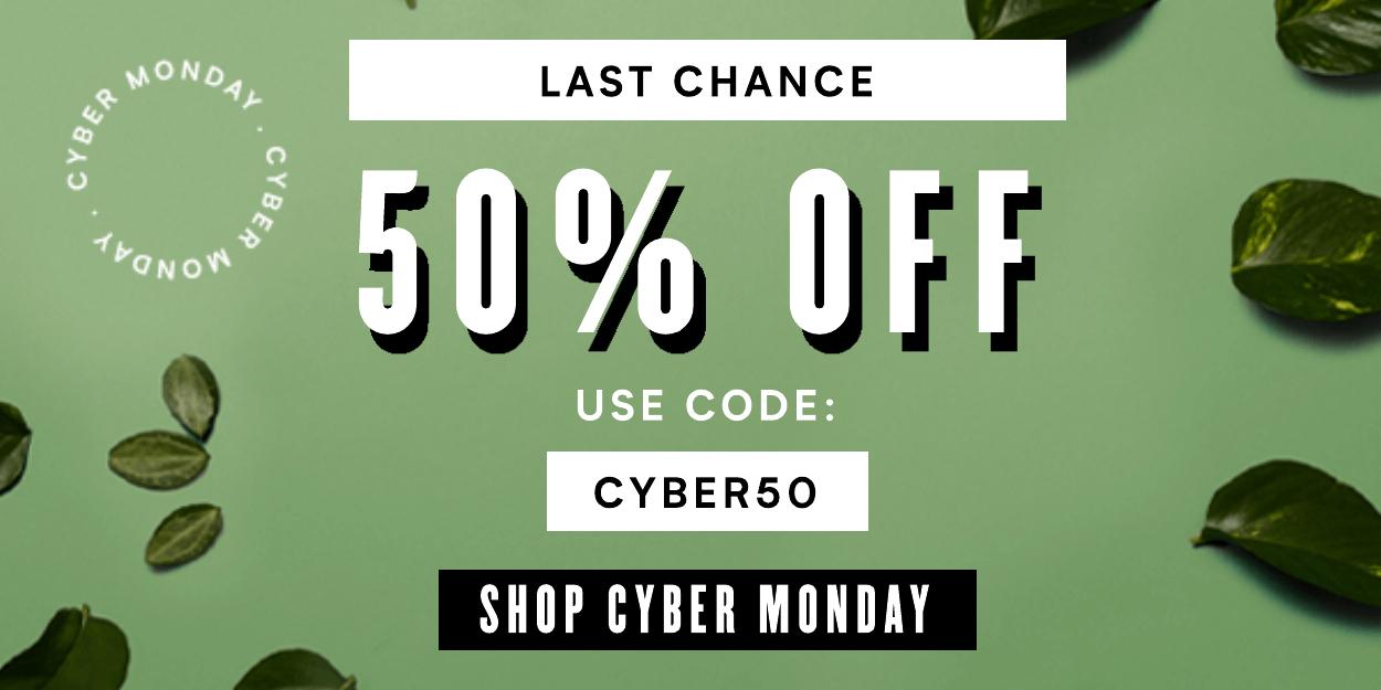 Myvegan 50% Cyber Monday discount