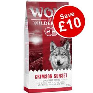 12kg Wolf of Wilderness Dry Dog Food £29.99 (£1.99 Delivery) @ Zooplus