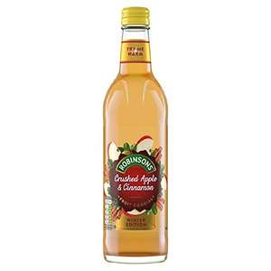 Robinsons Fruit Cordial, Crushed Apple and Cinnamon (8 x 500ml) £2.50 (£2.38 with S&S / + £4.49 NP) @ Amazon