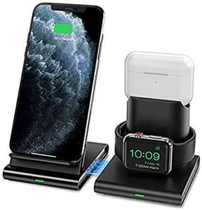 Seneo 3 in 1 Wireless Charger, Apple Watch and AirPods 2 Charging Station - £16.79 + (£4.49 NP)@ Sold by SJH EU LTD and Fulfilled by Amazon
