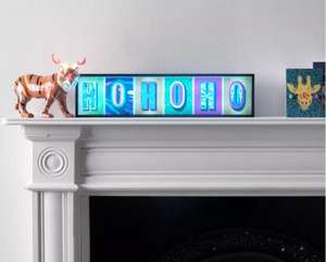 Argos Home Christmas Rhapsody Ho Ho Ho Light Up Box Now £10 with Free Click and Collect From Argos