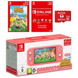 Nintendo Switch Lite + Animal Crossing + Nintendo Switch Online (3 Months) + 128GB SD CARD - £239.99 @ Nintendo Store