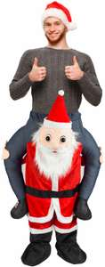 Carry Santa Claus Costume Father Christmas Ride Me Piggyback Adult Xmas Clause £19.99 ebay / thinkprice