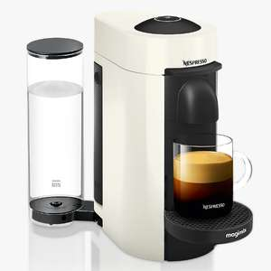Nespresso Vertuo Plus Coffee Machine by Magimix, White + Claim 100 complimentary capsules & 2 months sub £69.99 John Lewis & Partners