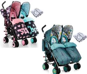 Cosatto Supa Dupa Twin Pushchair Stroller - Sis & Bro 5 or Fjord Now £239.95 From Online4Baby