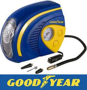 Goodyear 2 in 1 Tyre Air Compressor Inflator With LED Light, £12.79 with nectar holders code at thinkprice/ebay