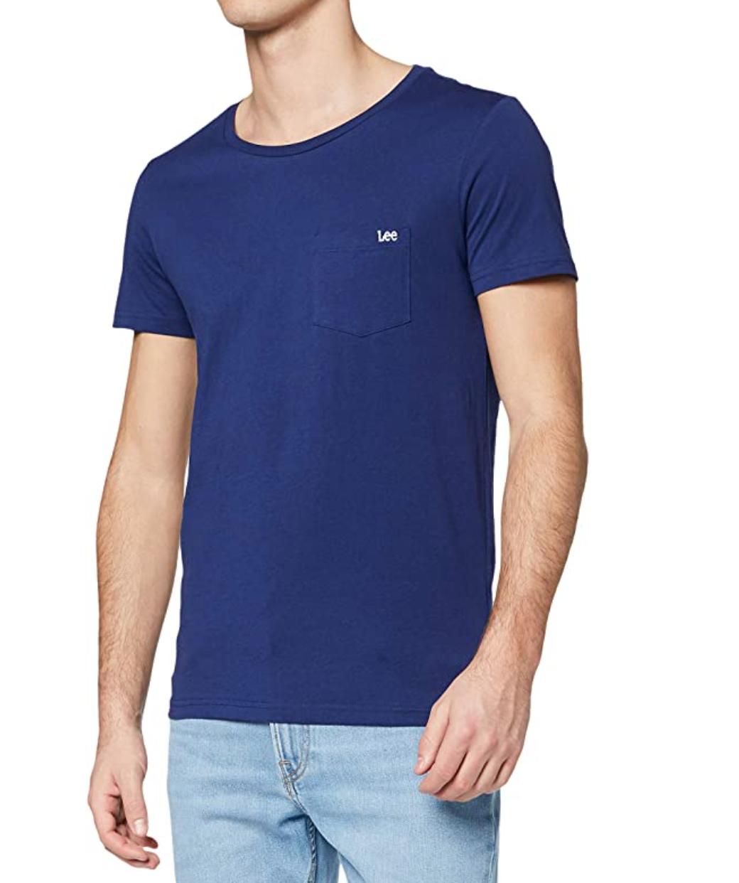 Lee Men's Pocket Tee T-Shirt, Blue £6.40 Prime / +£4.49 non Prime @ Amazon