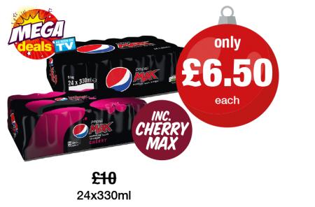 Pepsi Max, Cherry Max 24x330ml £6.50 @ Premier Stores