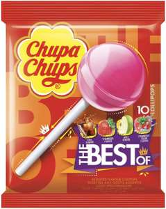 Chupa Chups The Best Of Lollipops 10 Assorted Flavours, 120 g £1.19 @ Amazon (+£4.49 non-prime)