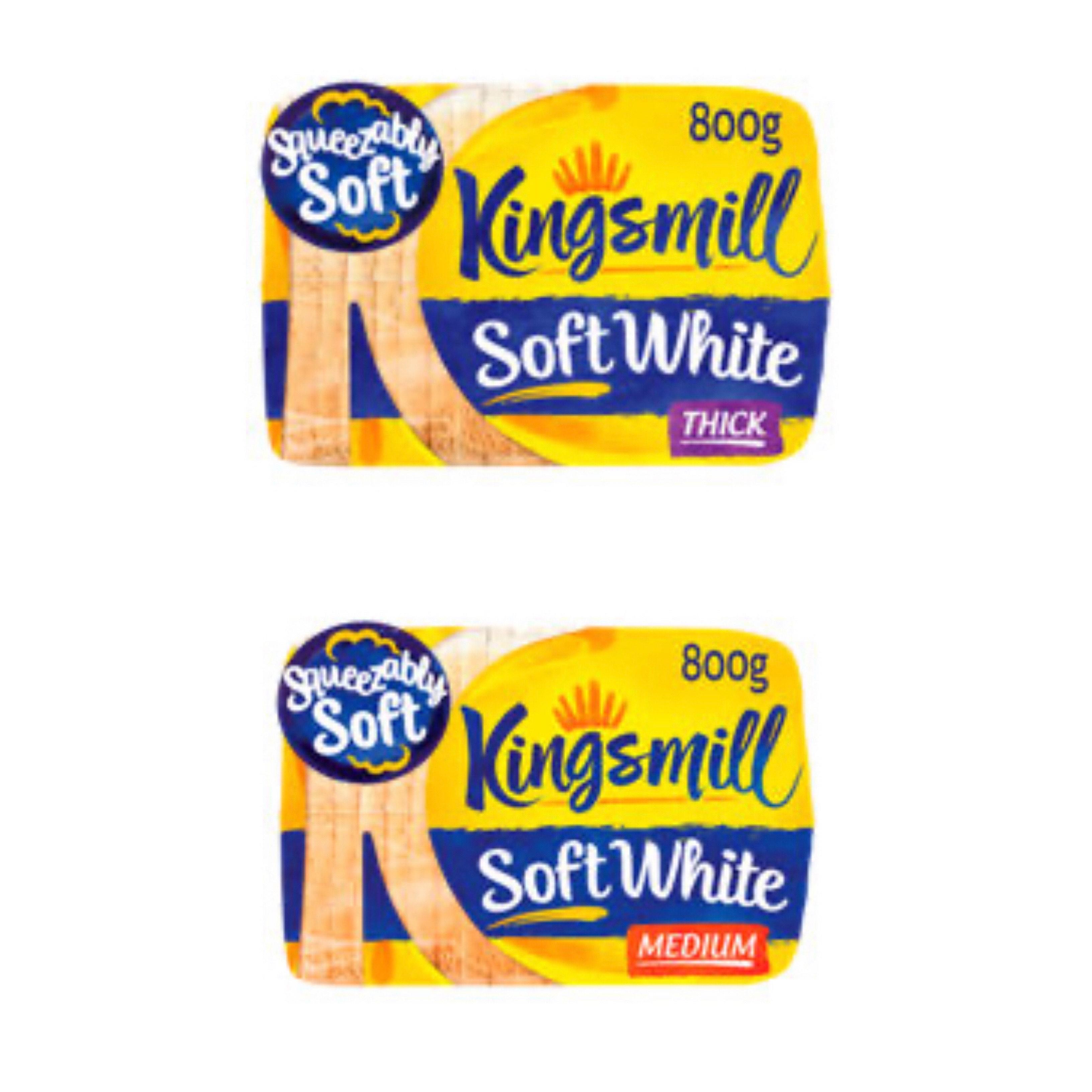 Kingsmill Thick / Medium Soft White Bread 800g 79p at Asda