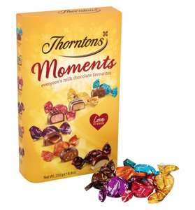 Thorntons Moments Chocolates Carton 250G £2.50 (clubcard price) at Tesco instore and online.