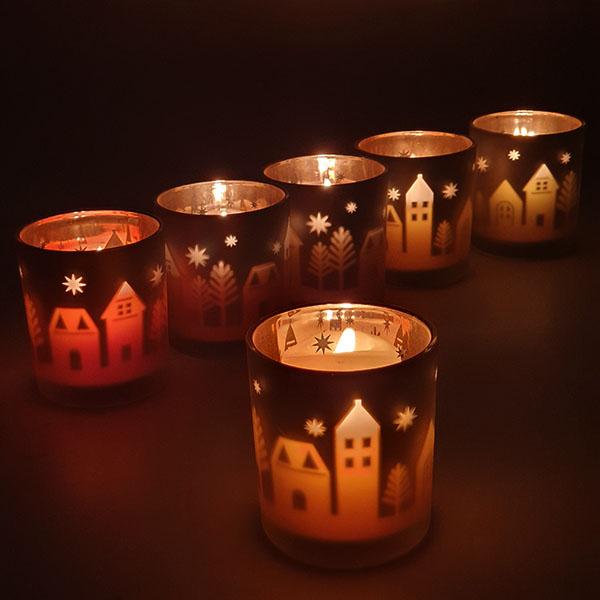 6 x Official Yankee Festive Season Winter Village Votive Candle Holders £8 Yankee Bundles