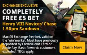 Betfair - Free £5 bet for Sandown Saturday 1:50pm (Must have previously deposited)