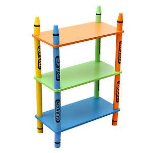Kiddi Style Children's Crayon Wooden Shelves Bookcase for £15.99 delivered using code @ eBay / kiddyproductsoutlet