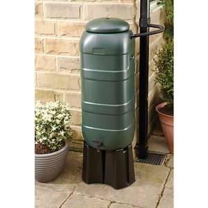 Wickes Compact Water Butt Rain Saver Kit - 100L - £20 + Free click & collect @ Wickes