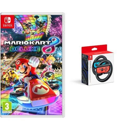 Mario Kart 8 Deluxe & Two Official Joy-Con Steering Wheels (Nintendo Switch) - £49.99 @ Amazon