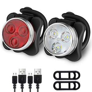 Ascher Rechargeable LED Bike Lights Set £7.99 - Sold by LangeeDirect and Fulfilled by Amazon. (+£4.49 Non-prime)