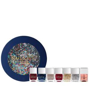 Nails Inc 7 Piece I'm Just Glitter Ballin Collection & Box £30.98 + £2.95 delivery @ QVC