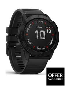 Garmin Fenix6X Pro - Black With Black Band £499.99 @ Very Free click and collect (10% back with BNPL code= £450.00)