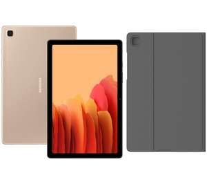 """SAMSUNG Galaxy Tab A7 (10.4"""") Tablet Bundle With Free Original Book Cover Trifold Stand (Gold, Silver, Grey) £169 @ Currys PC World"""