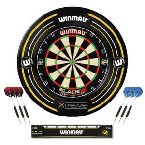 Winmau Blade 5 Dartboard, Xtreme Surround and 2 Darts Sets - £49.99 + Free Click and Collect @ Argos