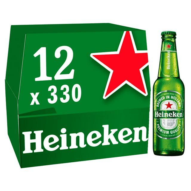 Heineken Premium Lager Beer Bottles 3x 12x330ml - £21 @ Asda