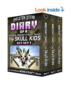 Diary of a Minecraft Zombie Hunter Player Team 'The Skull Kids' - Collection 1 - Books 1, 2, and 3: Unofficial Minecraft Books - Free Kindle